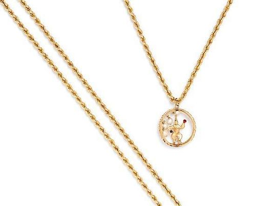 * A Collection of Yellow Gold Jewelry, 32.60 dwts.