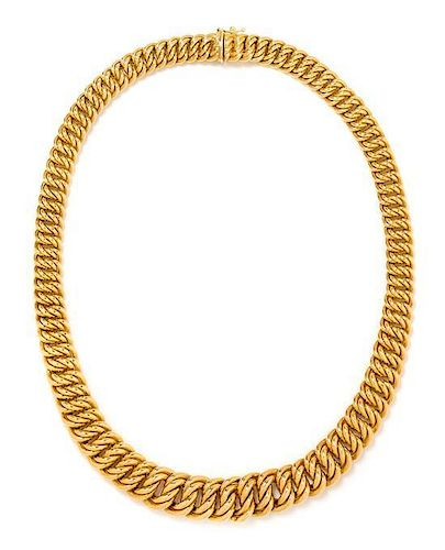 * A 14 Karat Yellow Gold Necklace, Italian, 29.70 dwts.