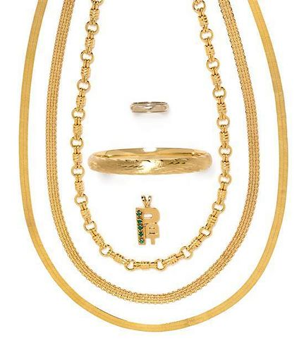 * A Collection of 14 Karat Gold Jewelry 42.35 dwts.