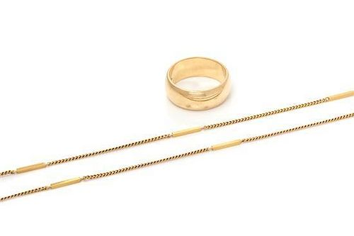 * A Colelction of Yellow Gold Jewelry, 9.80 dwts.