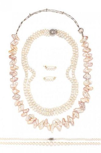 A Collection of Cultured Pearl Jewelry,