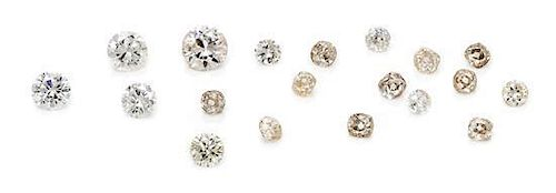 A Collection of 19 Loose Diamonds,