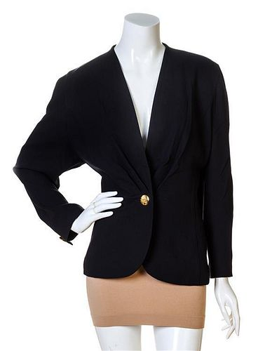A Carven Navy Wool Jacket, No size.