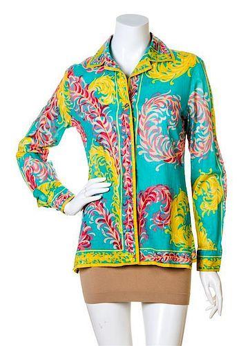 An Emilio Pucci Multicolor Cotton Tunic, No size.