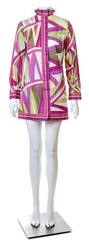 An Emilio Pucci Multicolor Cotton Tunic, Size 12.