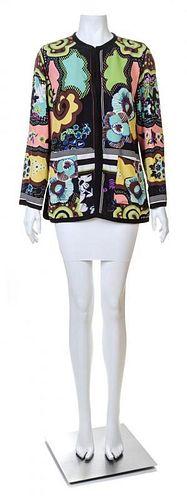 An Etro Multicolor Silk Jacket, Size 44.