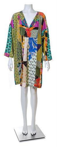 An Etro Multicolor Silk Dress, SIze 42.
