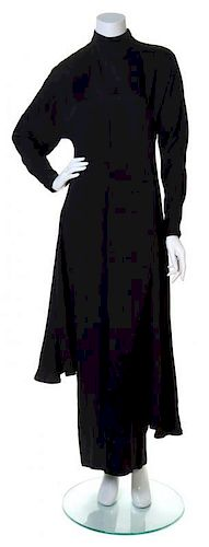 A Gianni Versace Black Silk Dress, Size 42.