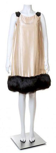 A Norell 1960s Cream Slip Sleeveless Dress, No size.