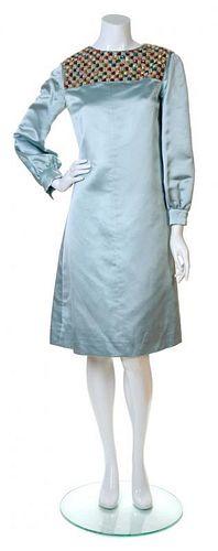 A Teal Traina Blue Silk Dress, No size.