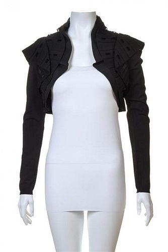 A Valentino Black Knit Bolero Jacket, No size.