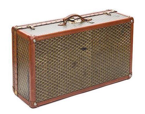 """A Goyard Large Hardsided Suitcase, 34"""" x 18"""" x 9.5""""."""
