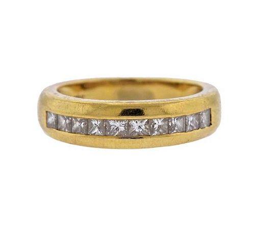 ddf0d292c 18k Gold Diamond Half Band Wedding Ring by Hampton Estate Auction ...