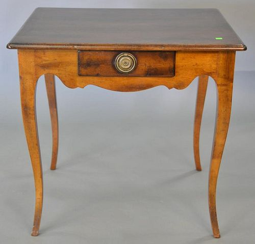 """Louis XV style table with drawer. ht. 28 in., top: 26"""" x 30""""   Provenance: The Estate of Thomas F Hodgman of Fairfield, Conne"""