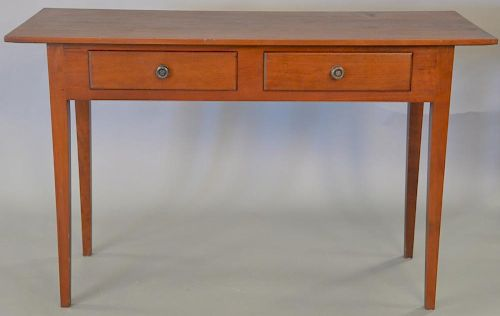 """Eldred Wheeler cherry hall/sofa table, signed in drawer. ht. 30 in., top: 18"""" x 48"""""""