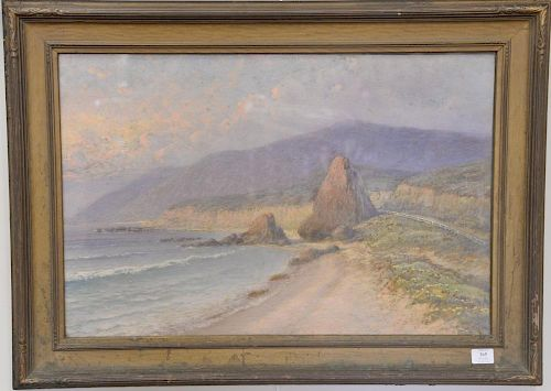 "Oldrich Farsky (1860-1930), oil on paper, Western landscape, signed lower right: O Farsky, 20"" x 30""."