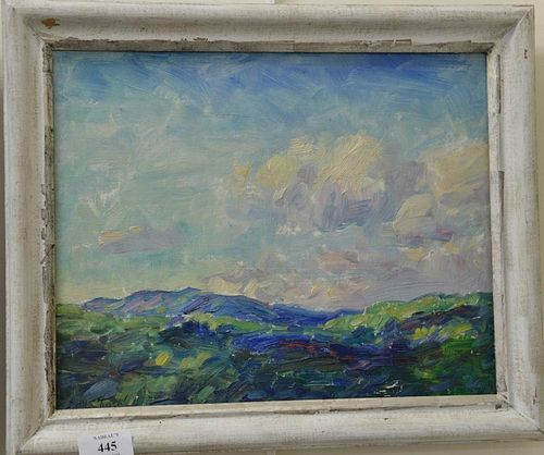 "Two oil on board paintings by Sidney Marsh Chase (1877-1957) including Waterfront (9"" x 12"") and July Afternoon (11"" x 13 1/2"
