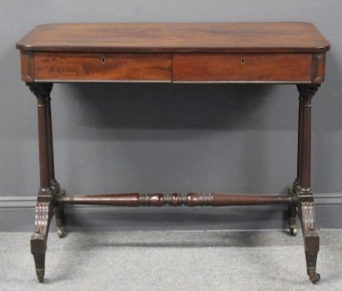 Antique Mahogany Sofa Table By Clarke Auction 1044499