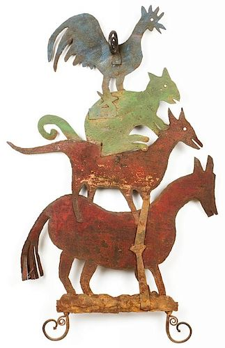 Early 20th c. Bremen Town Musicians Sculpture