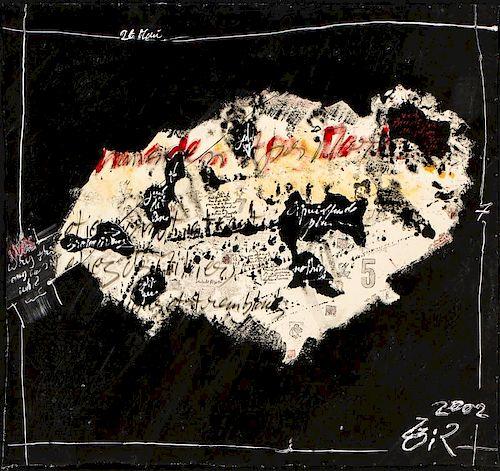 Gilles Rieu (French, b. 1953) Mixed media painting