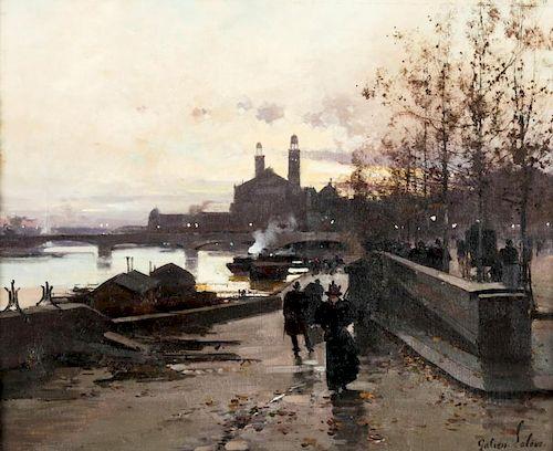 Eugene Galien-Laloue (1854-1941) Along the Seine