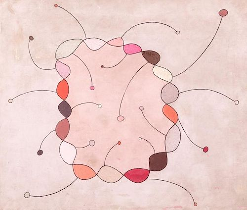 Jesse Reichek (1916-2005) Oil Painting, 1949