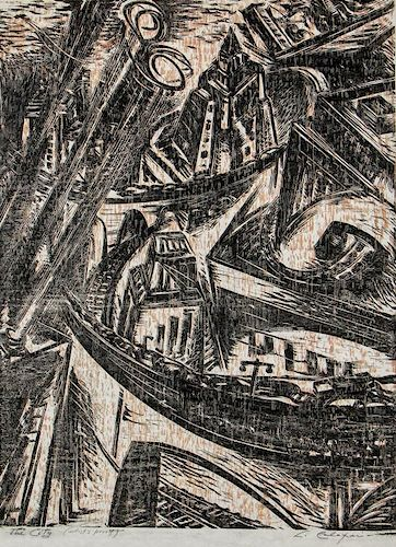 """Letterio Calapai (1902-1993) """"The City"""""""