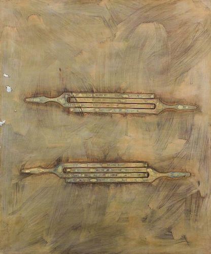 """James Nares (British, 1953) """"Four Forks"""", 1989"""