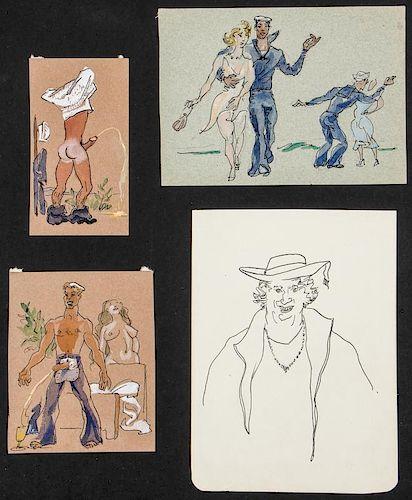 Emlen Pope Etting (1905-1993) 4 Works on Paper.