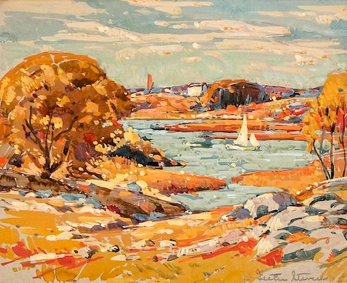 William Lester Stevens (1888-1969) Autumn in New England