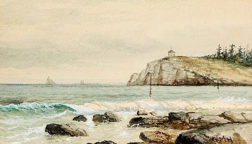 George Hathaway (1852-1903) Watercolor Painting