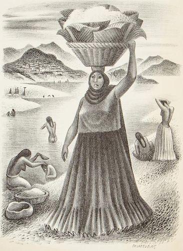 Miguel Covarrubias (1904-1957) Lithograph