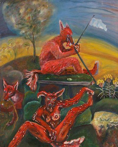 """Roger Rice (b. 1958) """"Desert Fox"""", 1991"""