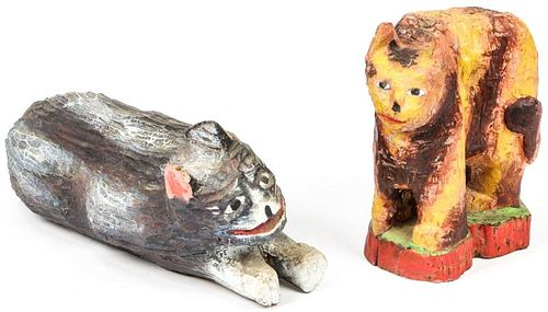 Fred Gerber (20th c.) 2 Cats