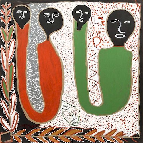 Saint Soleil Movement (Haitian, 20th c.) Painting