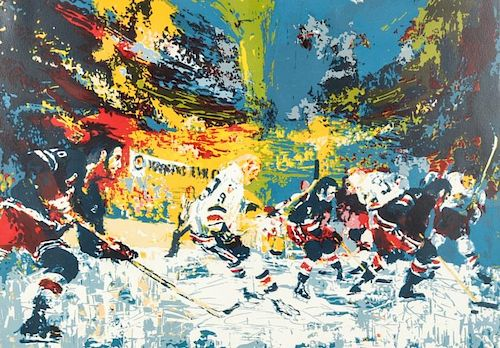 "LeRoy Neiman (1921-2012) ""Ice Men"", 1974"