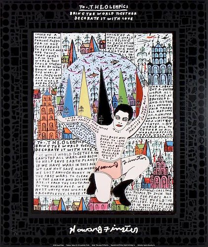 Howard Finster (1916-2001) To The Olempics