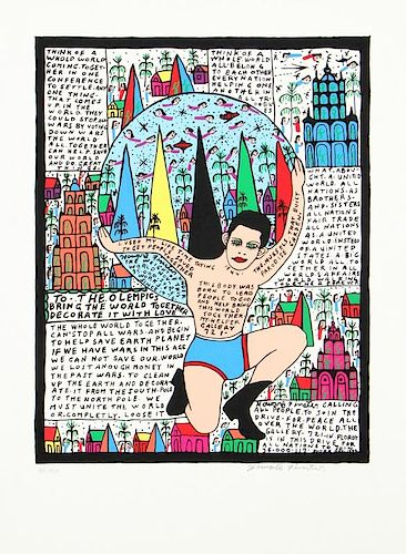 Howard Finster (1916-2001) To The Olympics
