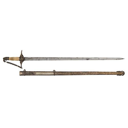 1840 Ames Presentation Sword To Capt David W. Baldwin