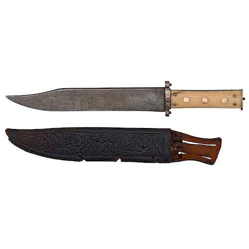 Unmarked Bowie Knife