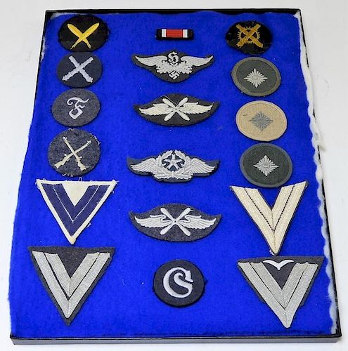WWII German Navy & Luftwaffe Sleeve Insignia by Bruneau & Co