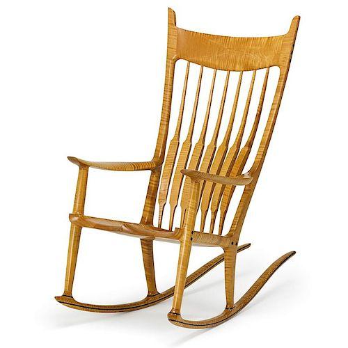 Super Sam Maloof Fine Rocking Chair By Rago 1056390 Bidsquare Inzonedesignstudio Interior Chair Design Inzonedesignstudiocom