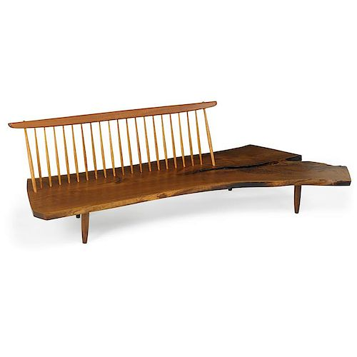 GEORGE NAKASHIMA Exceptional Conoid bench