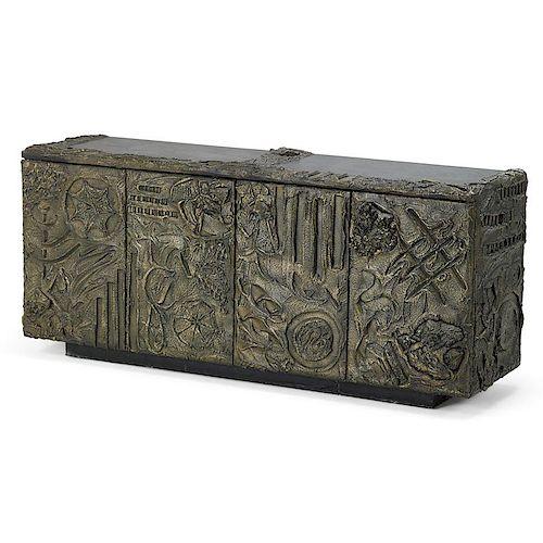 PAUL EVANS Sculptured Metal cabinet