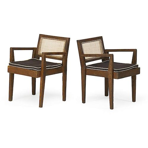 PIERRE JEANNERET Rare pair of clerk's chairs