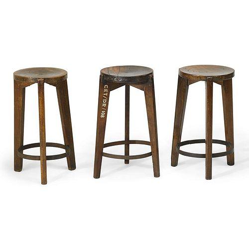 PIERRE JEANNERET Three stools