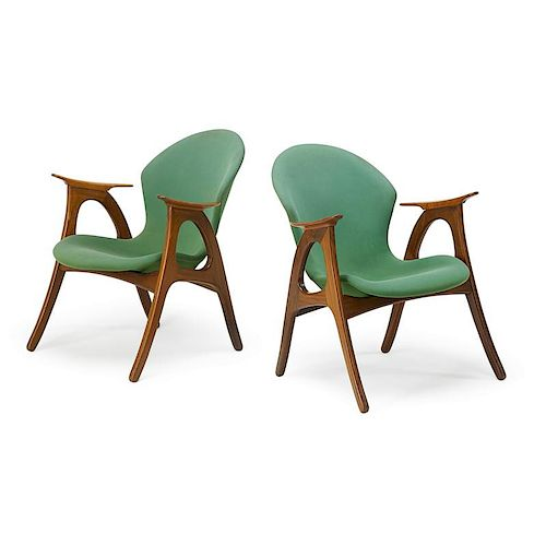 AAGE CHRISTENSEN Pair of armchairs