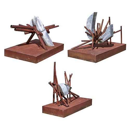 SYDNEY HAMBURGER Three outdoor sculptures