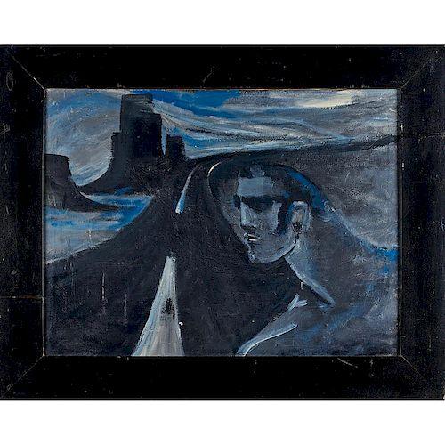 ROBERT LOUGHLIN Large painting
