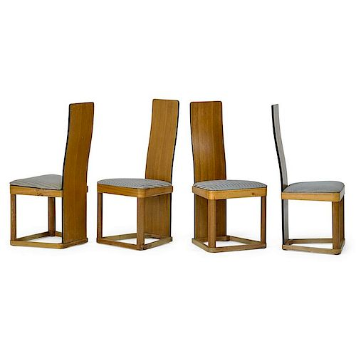 KEM WEBER Rare set of four Airline side chairs
